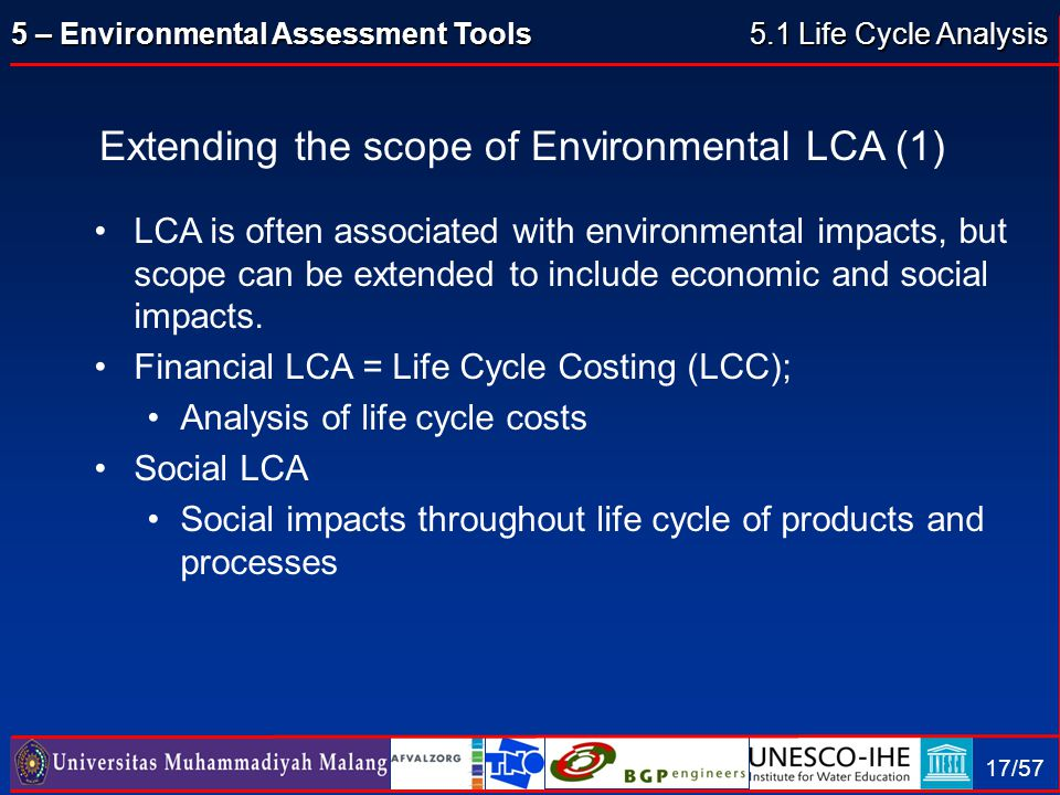 Extending the scope of Environmental LCA (1)