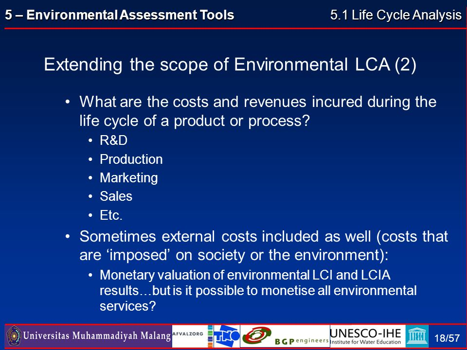 Extending the scope of Environmental LCA (2)