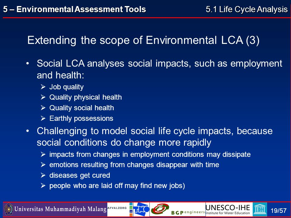 Extending the scope of Environmental LCA (3)