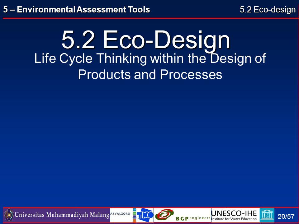 5.2 Eco-design 5.2 Eco-Design