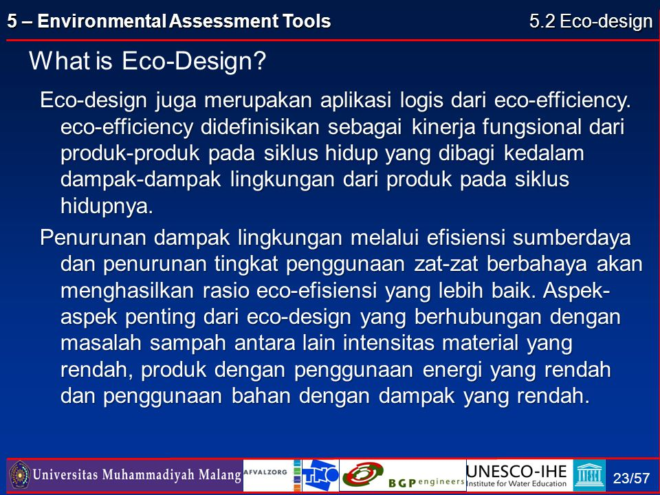5.2 Eco-design What is Eco-Design