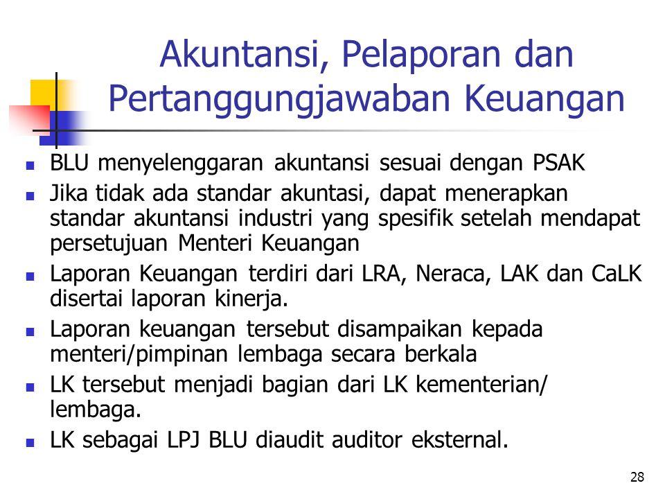 Akuntansi, Pelaporan dan Pertanggungjawaban Keuangan