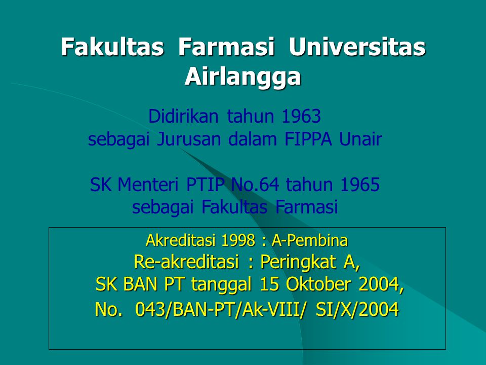 Fakultas Farmasi Universitas Airlangga