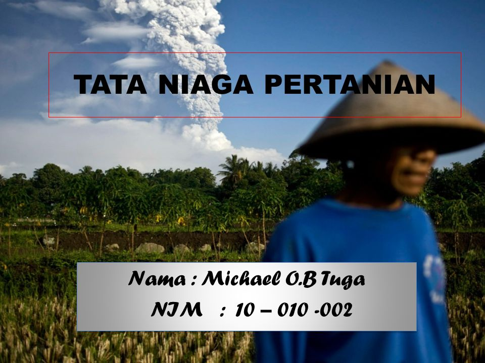 Nama : Michael O.B Tuga NIM : 10 – 010 -002