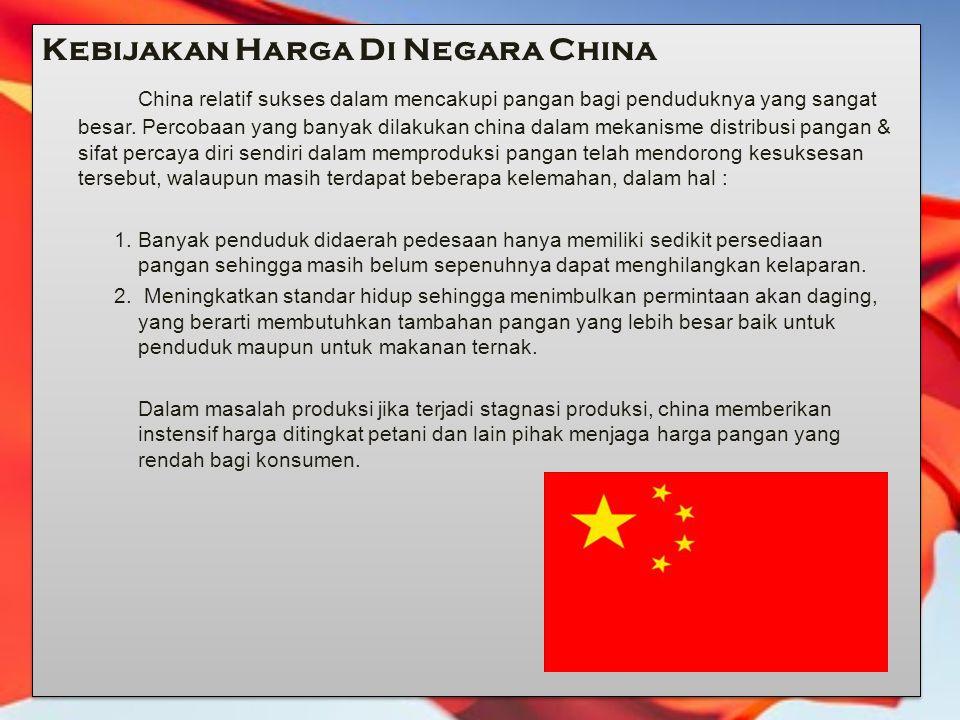 Kebijakan Harga Di Negara China