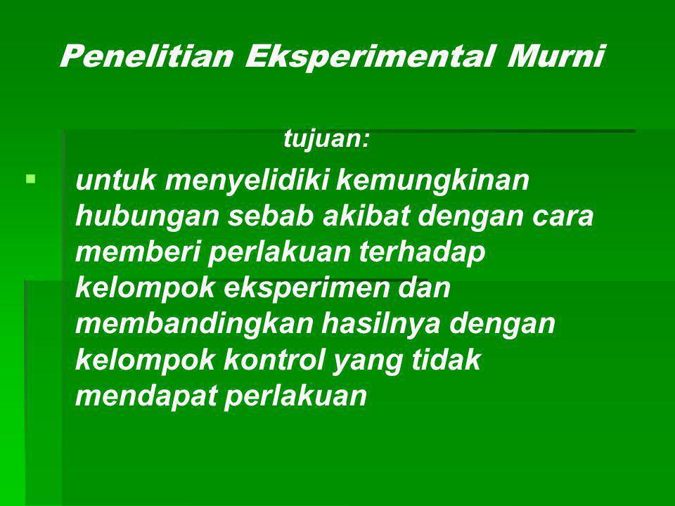 Penelitian Eksperimental Murni