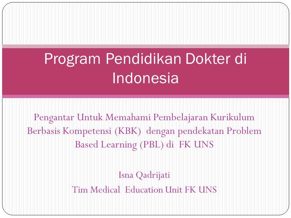 Program Pendidikan Dokter di Indonesia