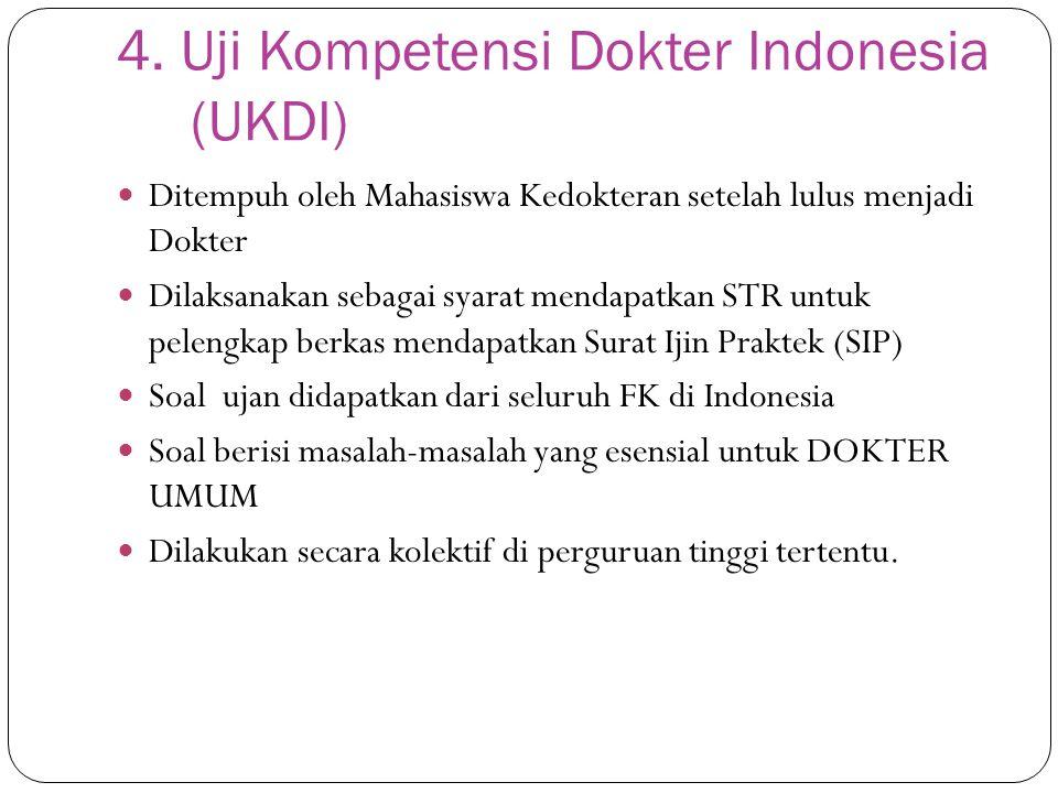 4. Uji Kompetensi Dokter Indonesia (UKDI)