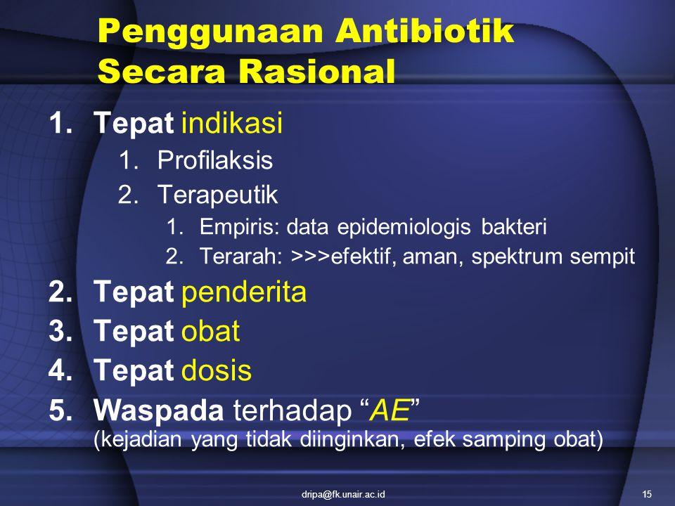 Penggunaan Antibiotik Secara Rasional