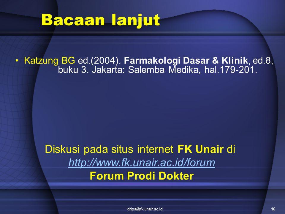 Diskusi pada situs internet FK Unair di