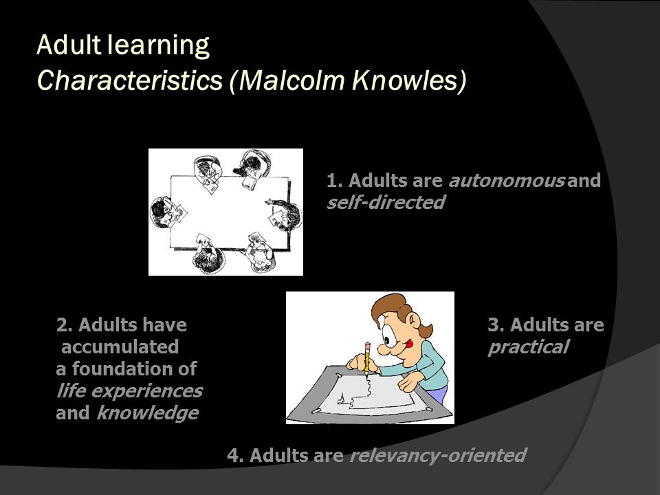 Adult learning Characteristics (Malcolm Knowles)