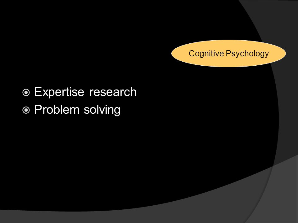 Reasons for Changes Expertise research Problem solving