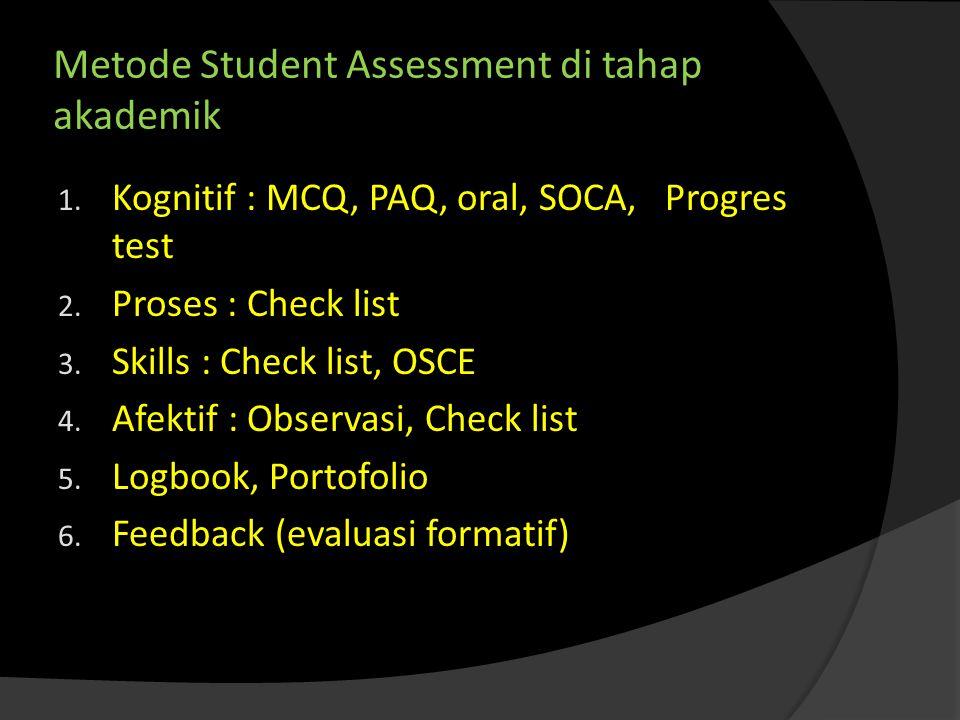 Metode Student Assessment di tahap akademik