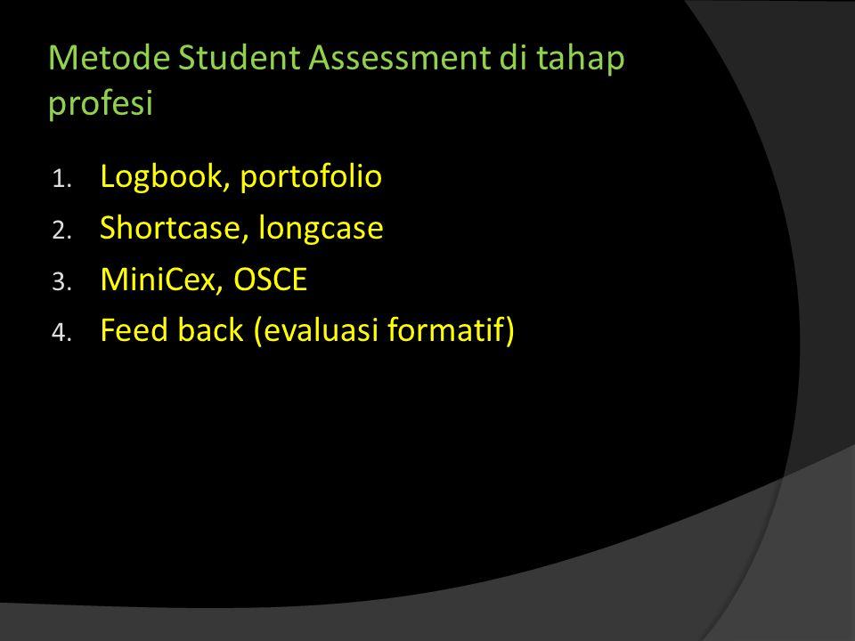 Metode Student Assessment di tahap profesi