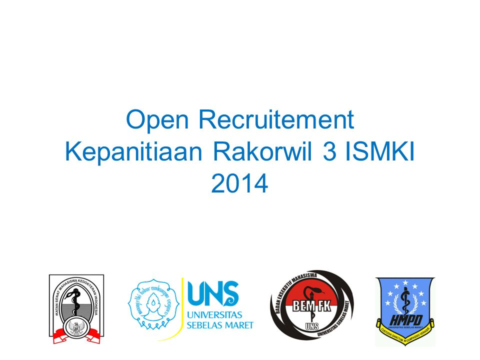 Open Recruitement Kepanitiaan Rakorwil 3 ISMKI 2014