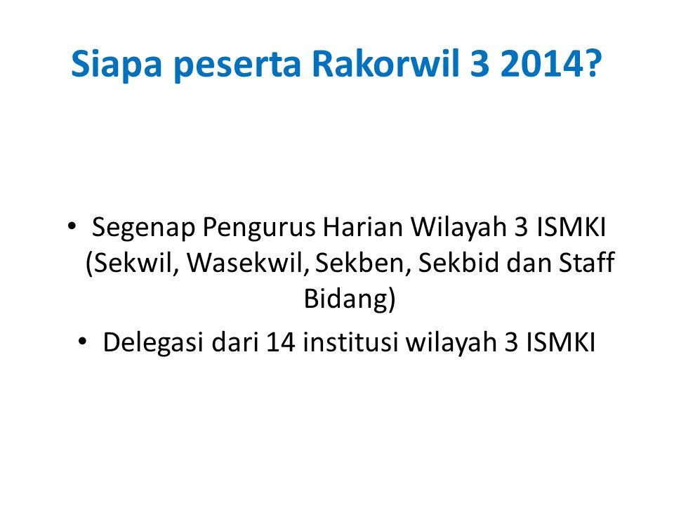 Siapa peserta Rakorwil 3 2014