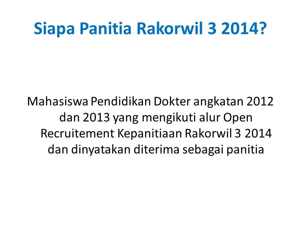 Siapa Panitia Rakorwil 3 2014