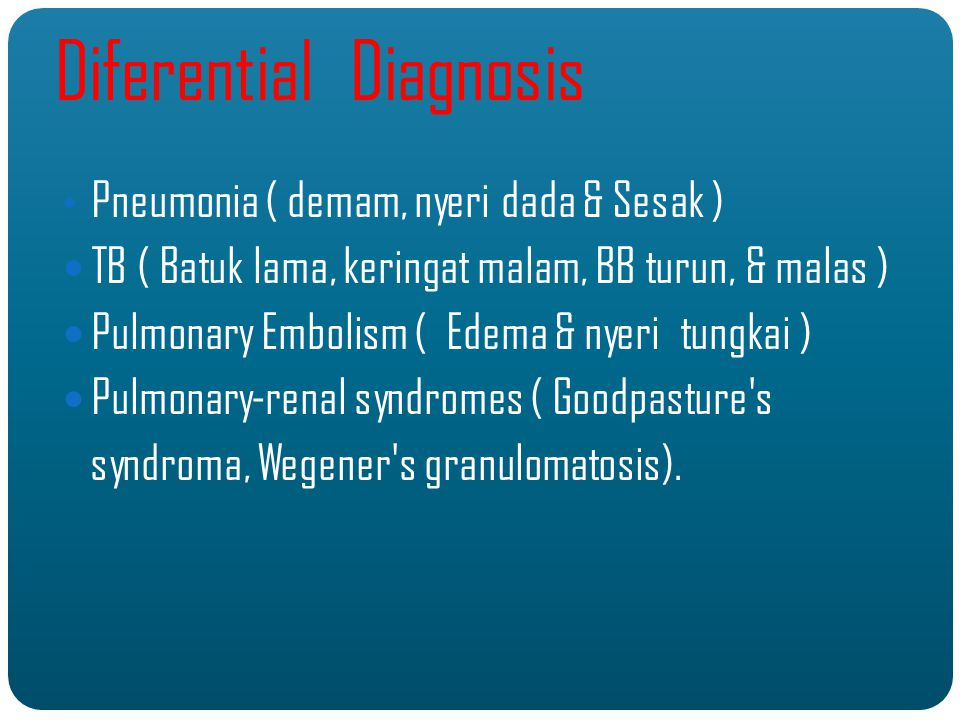 Diferential Diagnosis