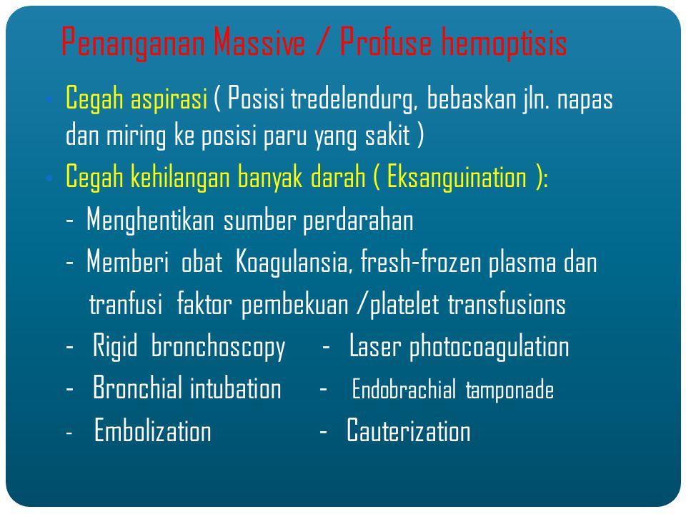 Penanganan Massive / Profuse hemoptisis