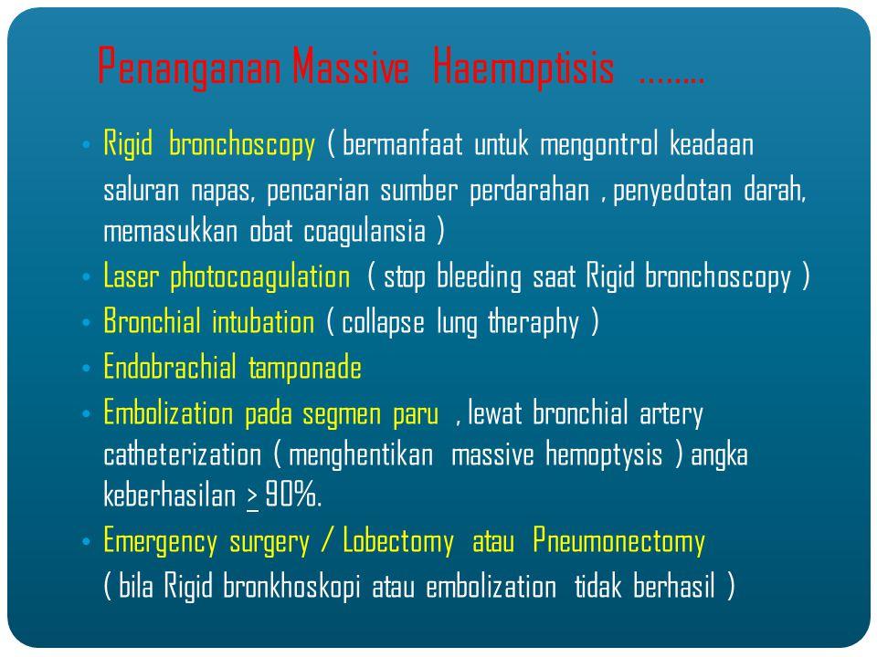 Penanganan Massive Haemoptisis ........