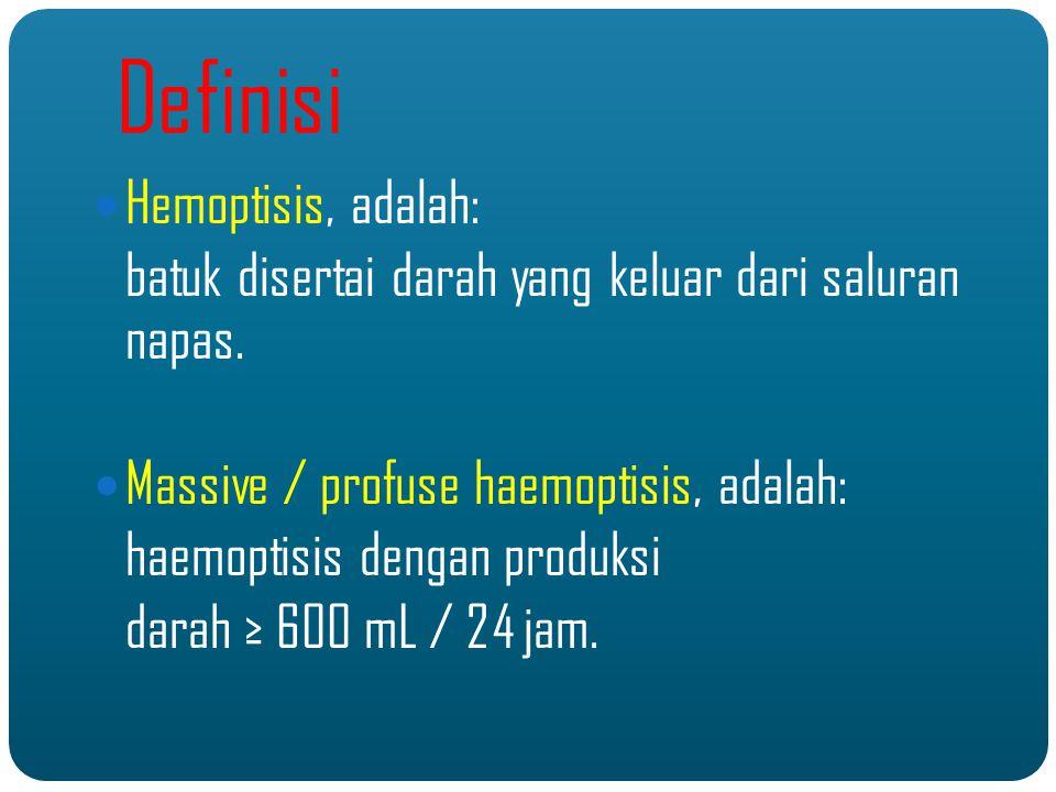 Definisi Hemoptisis, adalah: