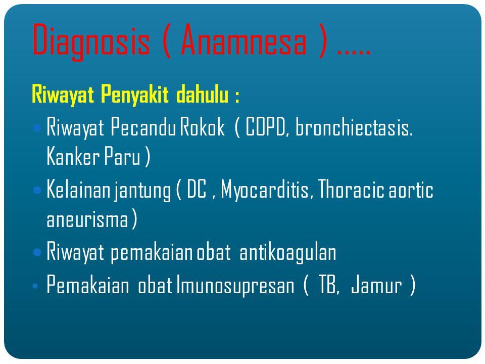 Diagnosis ( Anamnesa ) ..... Riwayat Penyakit dahulu :