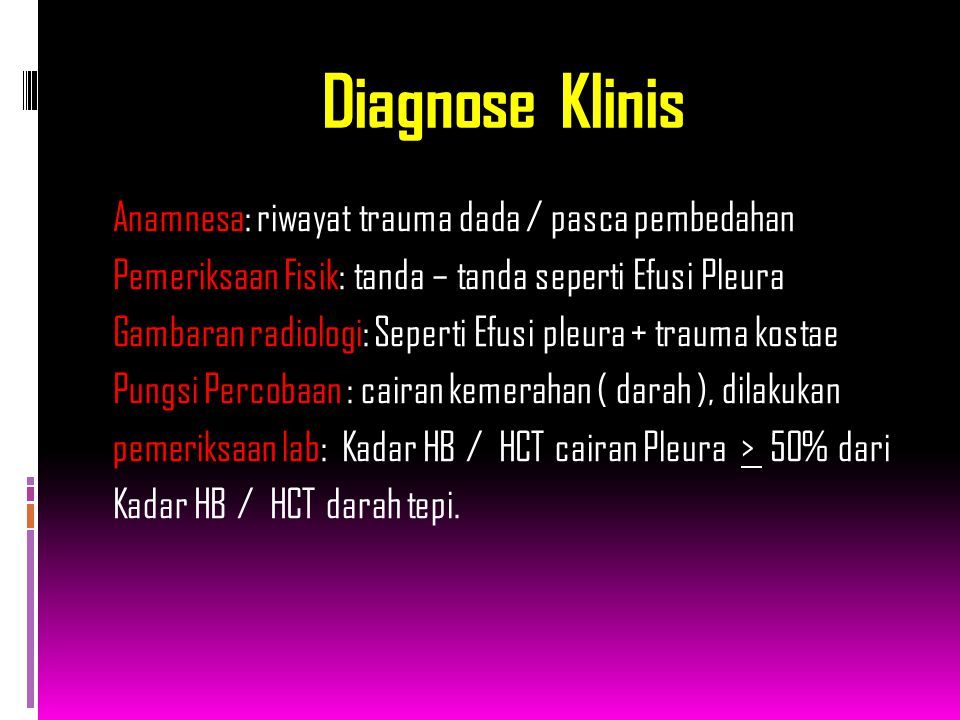 Diagnose Klinis