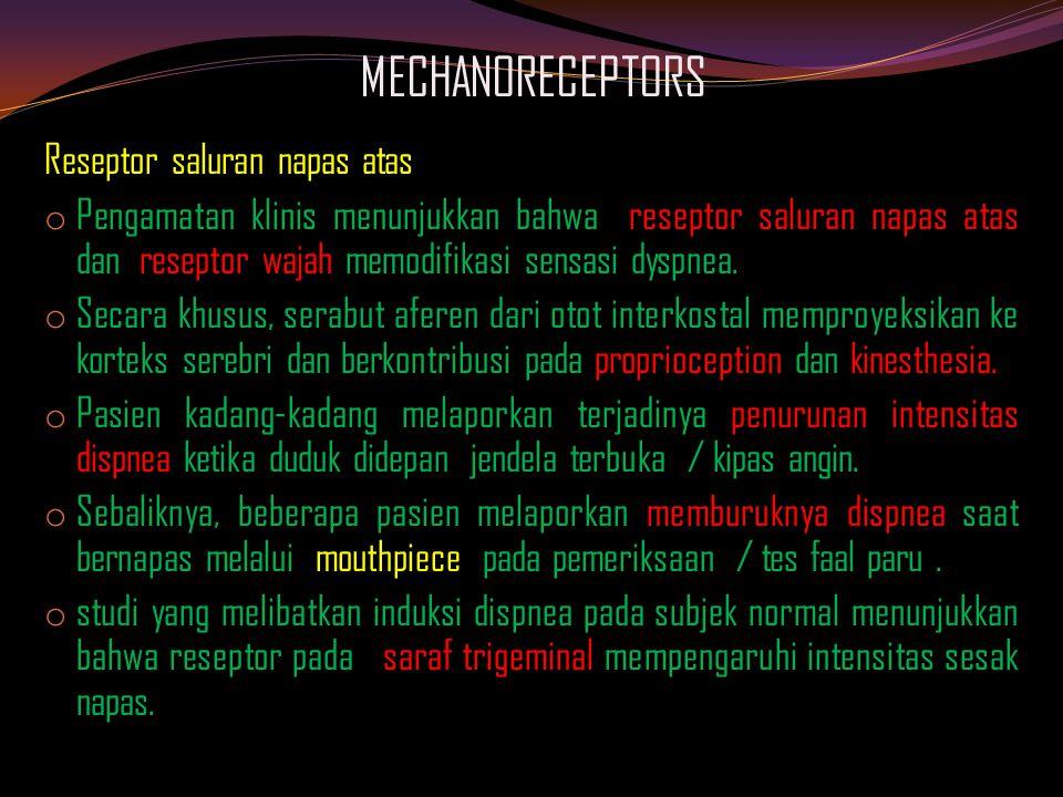 MECHANORECEPTORS Reseptor saluran napas atas