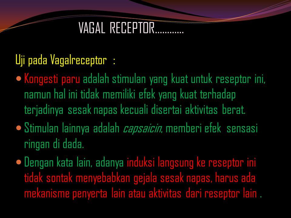 VAGAL RECEPTOR………… Uji pada Vagalreceptor :