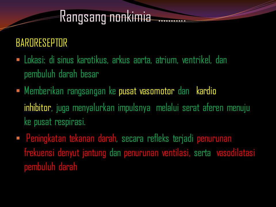 Rangsang nonkimia ……….. BARORESEPTOR