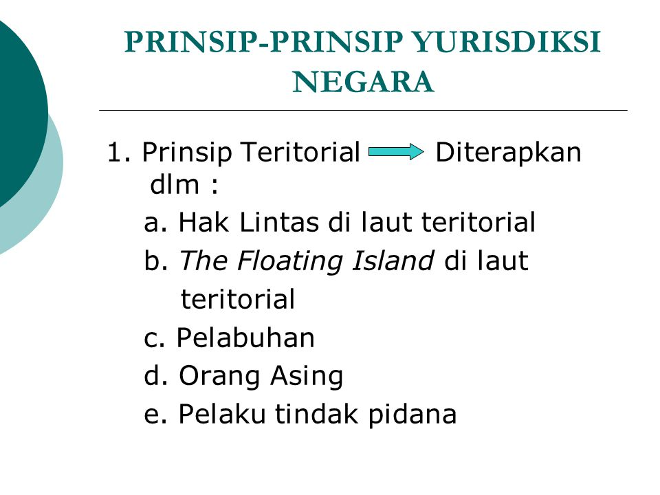 PRINSIP-PRINSIP YURISDIKSI NEGARA