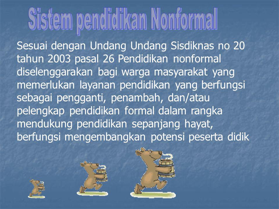 Sistem pendidikan Nonformal