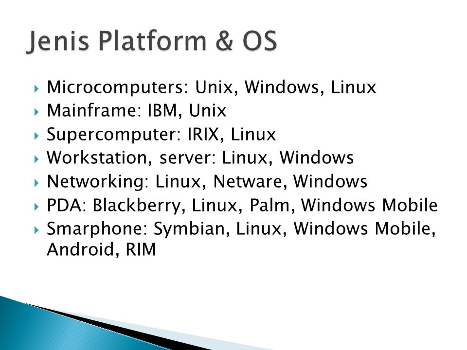 Jenis Platform & OS Microcomputers: Unix, Windows, Linux