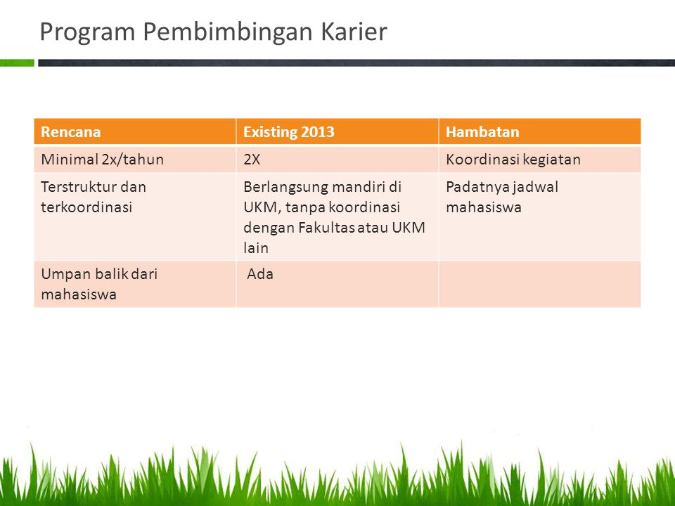Program Pembimbingan Karier
