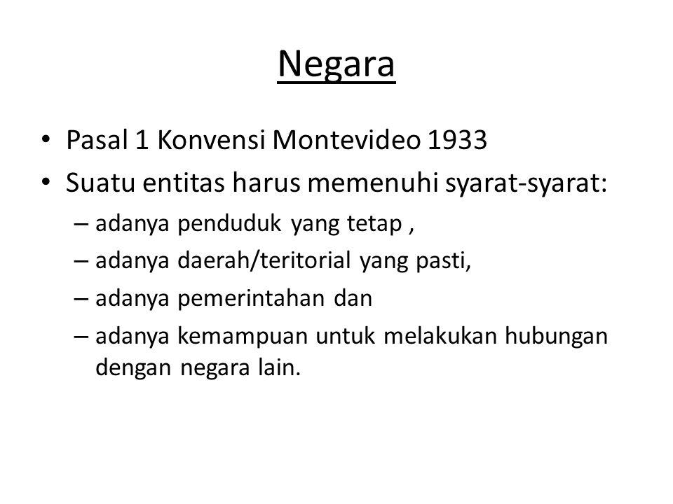 Negara Pasal 1 Konvensi Montevideo 1933