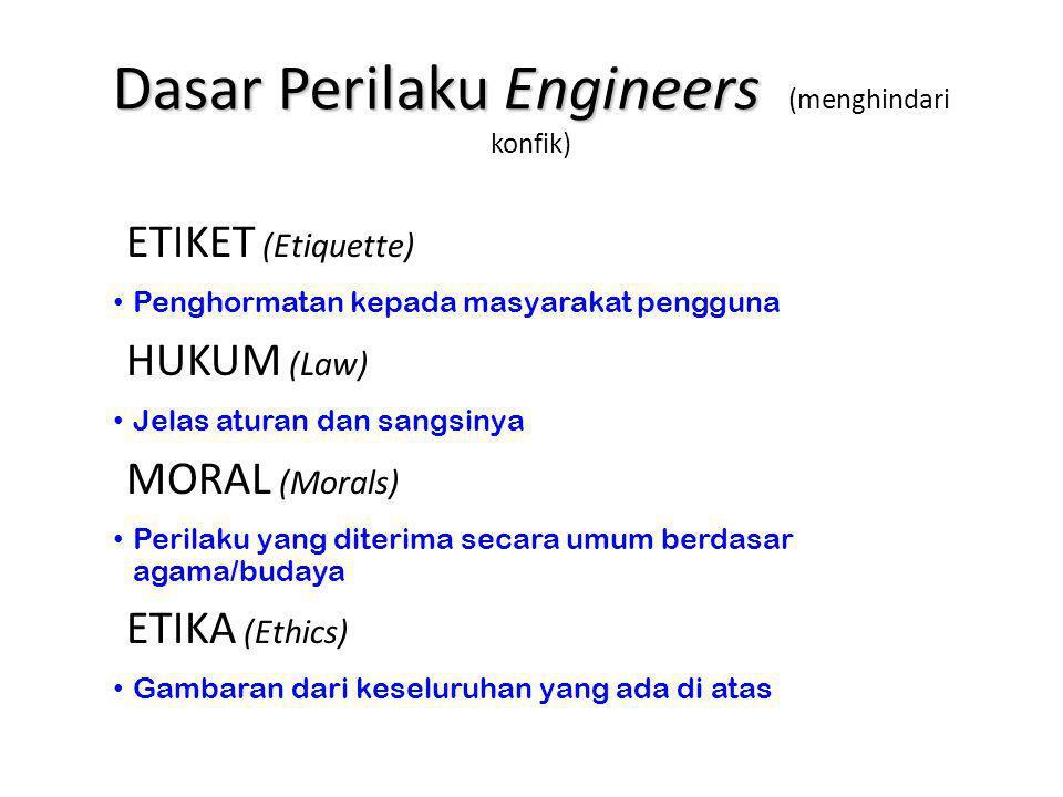 Dasar Perilaku Engineers (menghindari konfik)