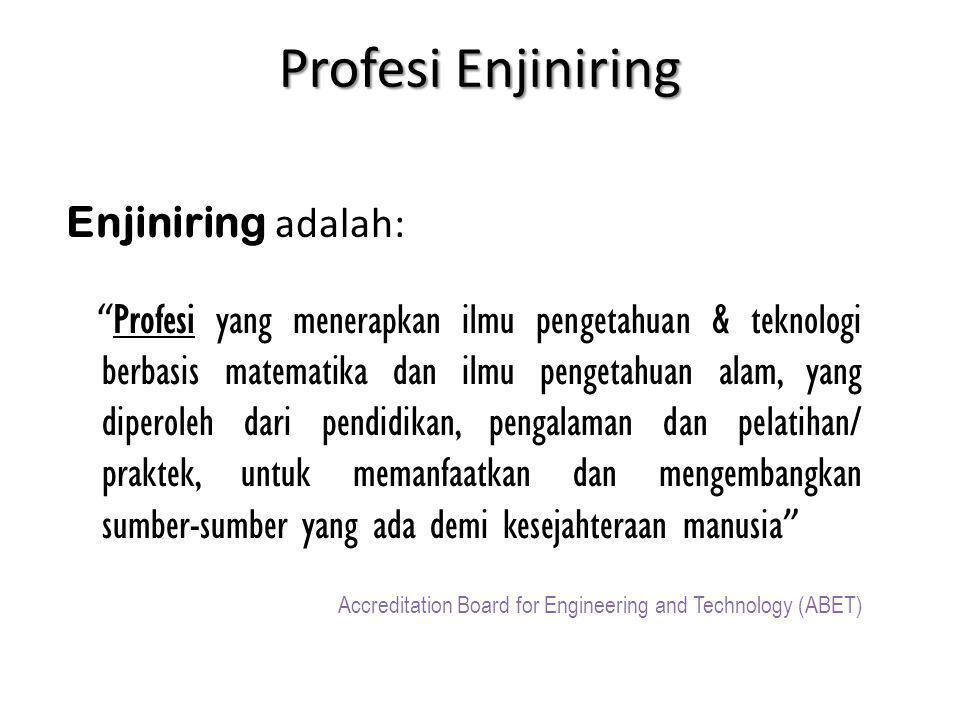 Profesi Enjiniring Enjiniring adalah: