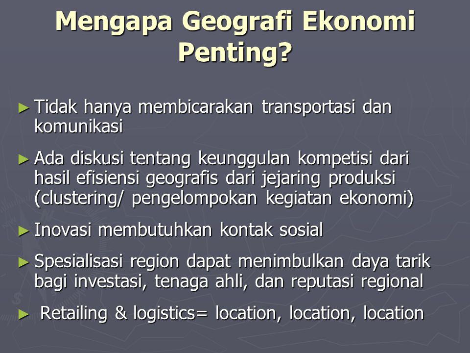 Mengapa Geografi Ekonomi Penting