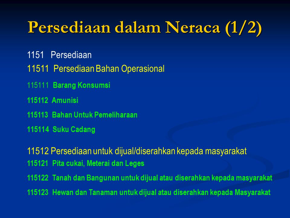 Persediaan dalam Neraca (1/2)
