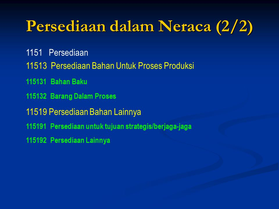 Persediaan dalam Neraca (2/2)