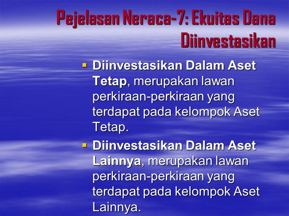 Pejelasan Neraca-7: Ekuitas Dana Diinvestasikan
