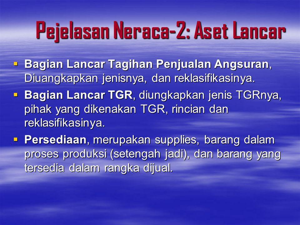 Pejelasan Neraca-2: Aset Lancar