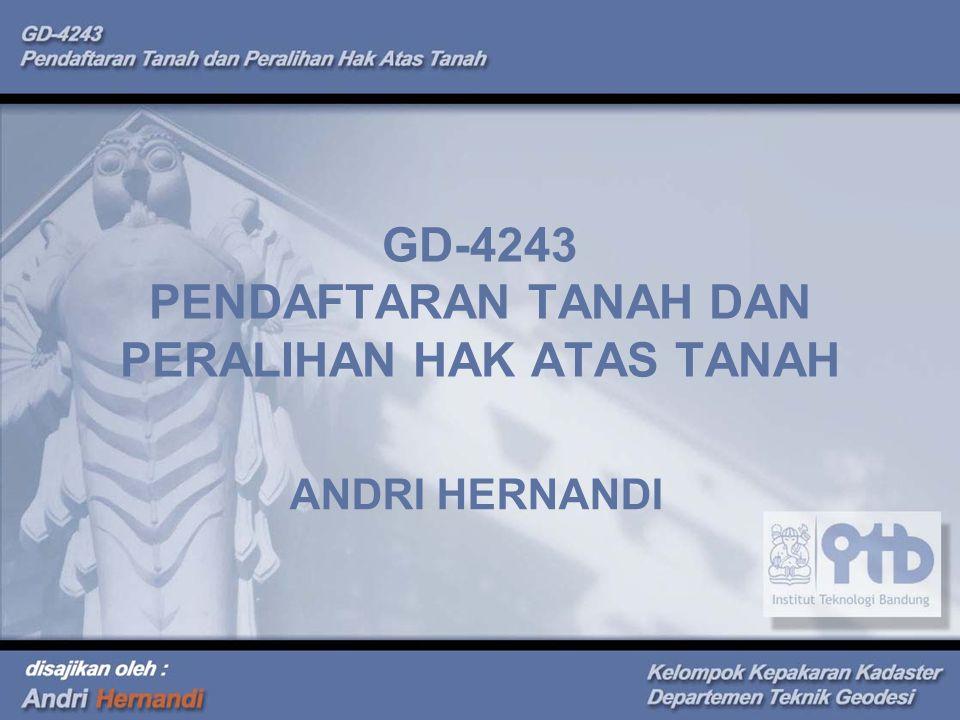GD-4243 PENDAFTARAN TANAH DAN PERALIHAN HAK ATAS TANAH