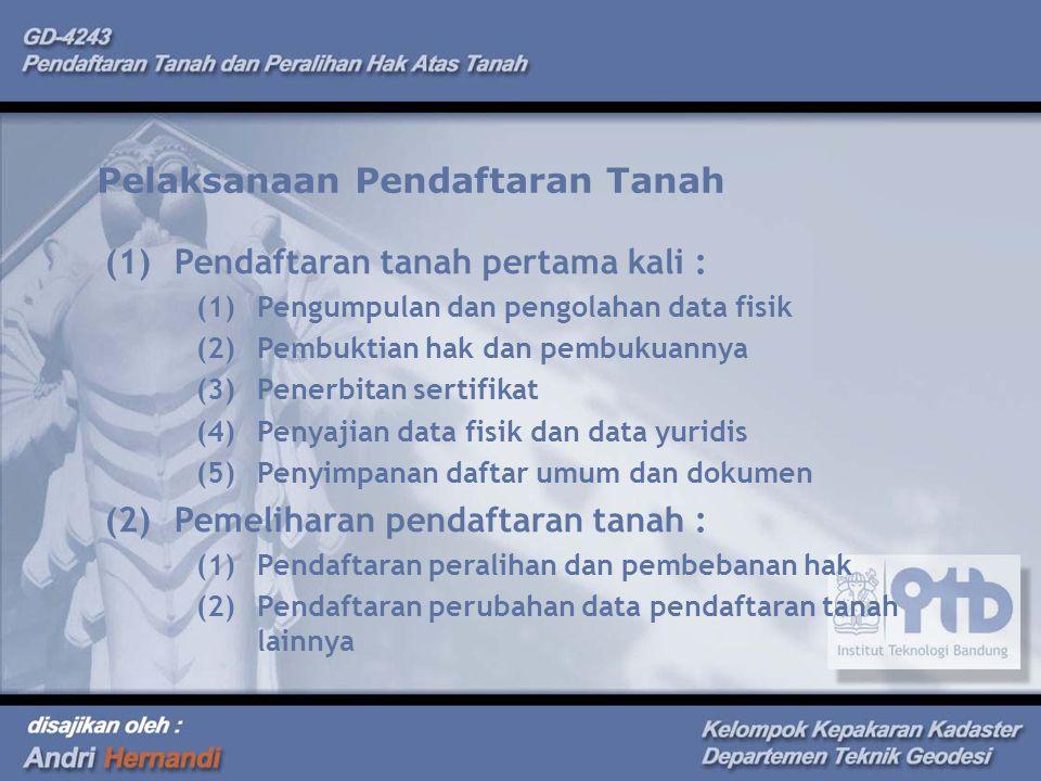 Pelaksanaan Pendaftaran Tanah