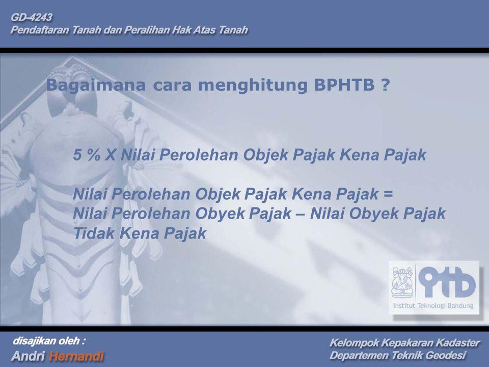Bagaimana cara menghitung BPHTB