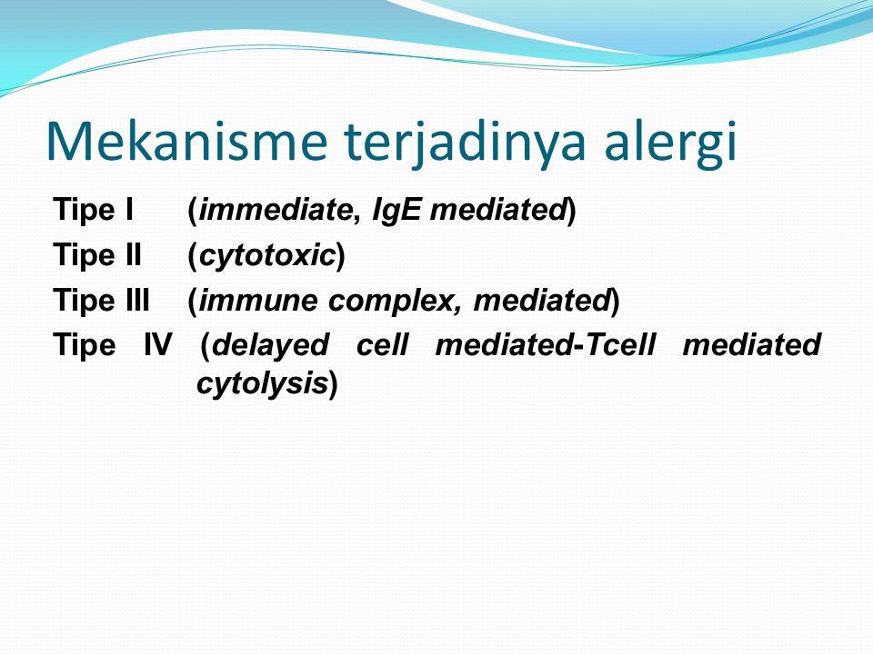 Mekanisme terjadinya alergi
