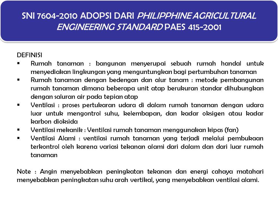 SNI 7604-2010 ADOPSI DARI PHILIPPHINE AGRICULTURAL ENGINEERING STANDARD PAES 415-2001