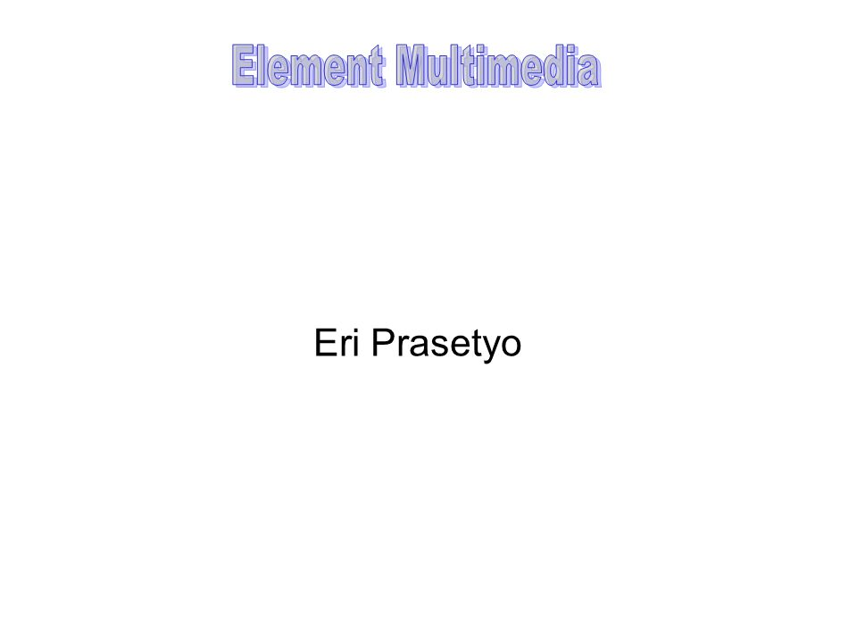 Element Multimedia Eri Prasetyo