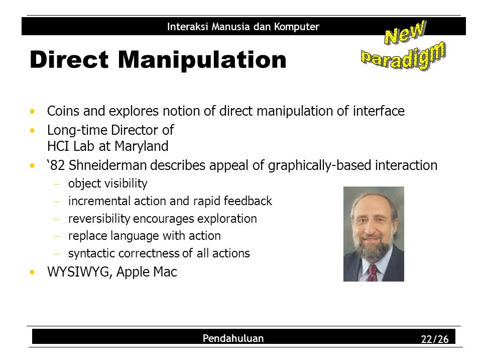 Direct Manipulation New paradigm