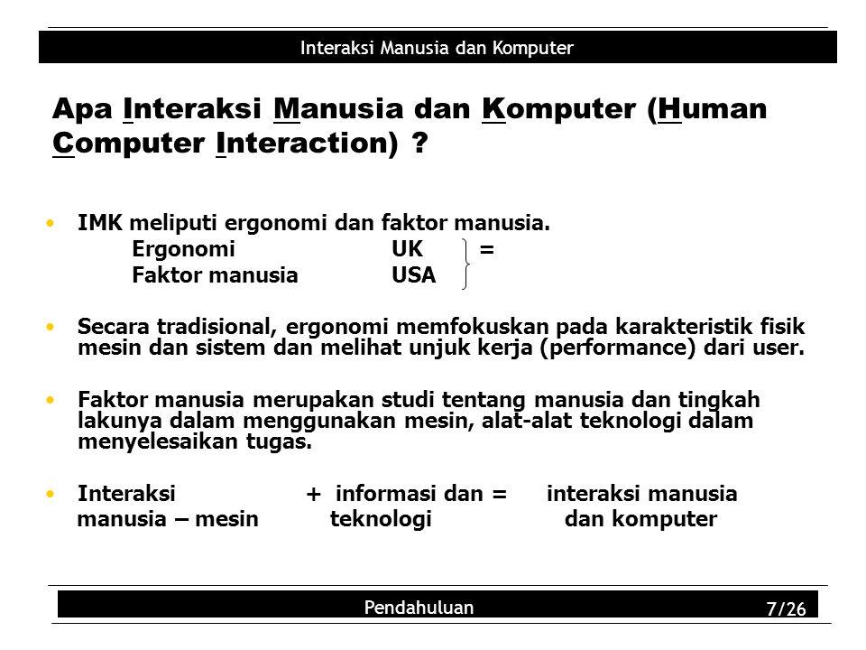 Apa Interaksi Manusia dan Komputer (Human Computer Interaction)